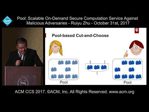 ACM CCS 2017. Pool: Scalable On-Demand Secure computation Service [...] - Ruiyu Zhu