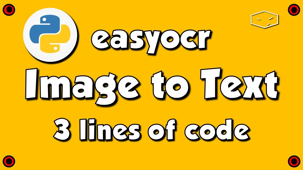 Python Image to Text # 3 lines of code # easyocr