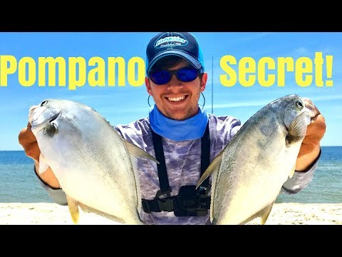 The SECRET To Catching More Pompano Surf Fishing!!!