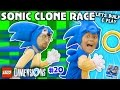 SONIC THE HEDGEHOG TWINS! LEGO Dimensions Fun w/ Dr Robotnik Battle (Let