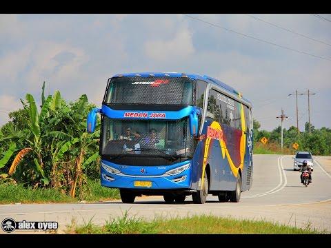 Mengejar Bus Medan Jaya scania k360 & Putra Pelangi 2542