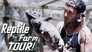 Two Headed Turtle! Mata Matas! Baby Gators! Rhino Igunanas! and MORE!! Reptile Farm Tour