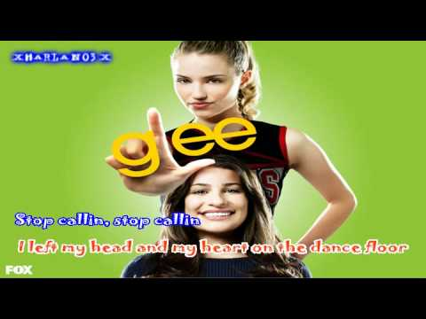 Glee - Telephone Karaoke Lyrics / Moving Lyrics