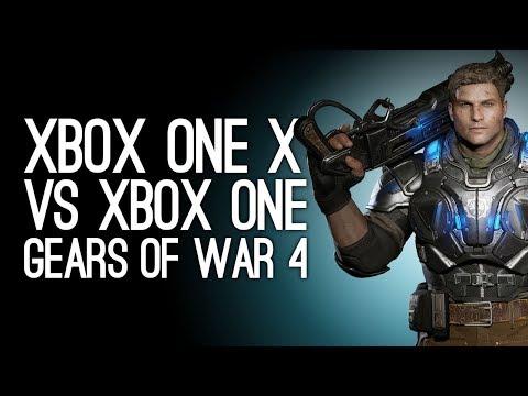 Gears of War 4: Xbox One X Gameplay vs Xbox One Gameplay - 4K vs 1080p