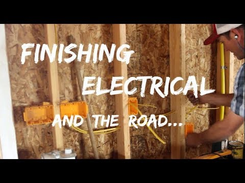 DIY Home Build: Finishing Electrical, The Road And The Weather