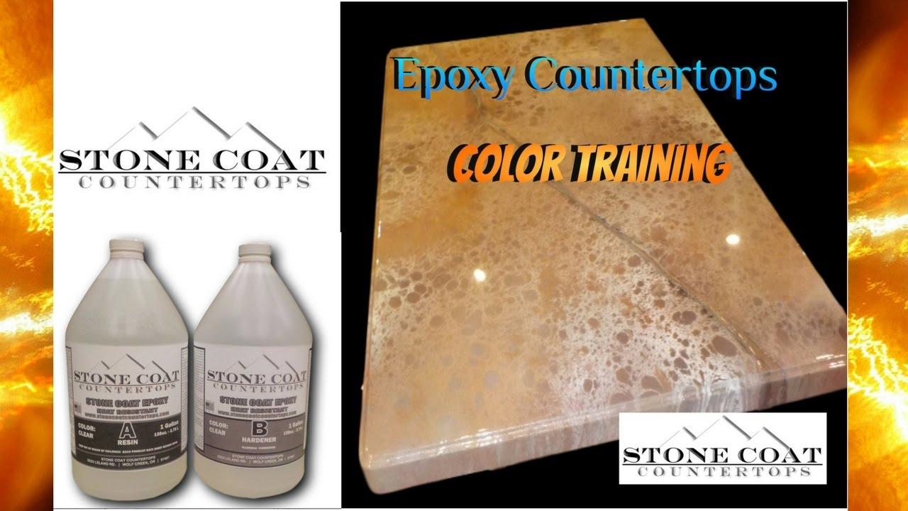 how to make Metallic epoxy countertop
