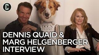 Dennis Quaid & Marg Helgenberger Interview A Dog's Journey