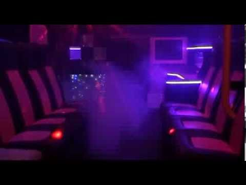 Pink Party Bus Ambulance Limo   Limousine for hire covering the West Midlands area