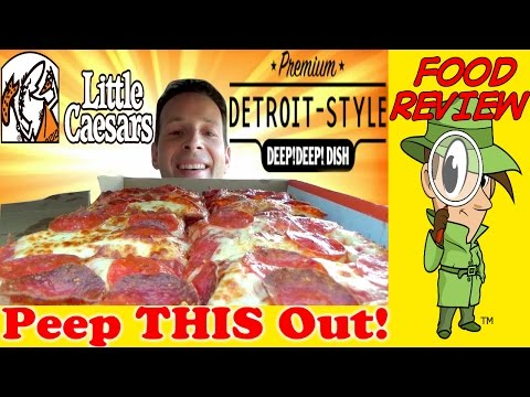 Little Caesars® | Premium Detroit-Style DEEP!DEEP!™ Dish Pizza Review! Peep THIS Out!