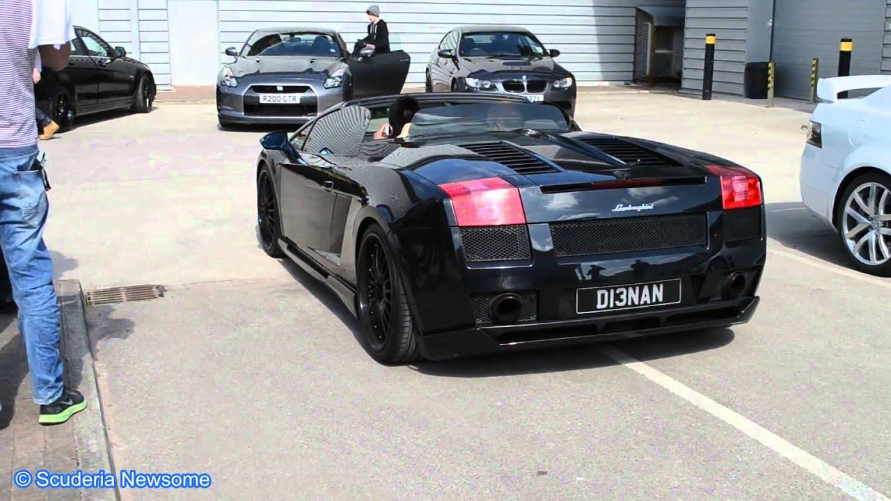 hamann lamborghini gallardo spyder startup drift - Lamborghini Gallardo Spyder Black 2013