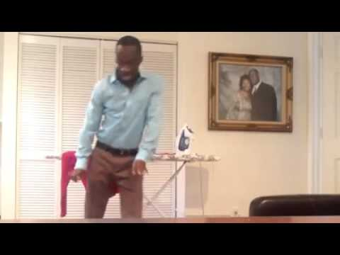 Dancing away the stress of ironing