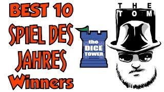 Best 10 Spiel des Jahres Winners