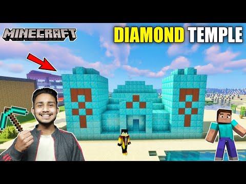 making-diamond-temple-for-villagers-in-minecraft-survival-||-sanskari-gamer