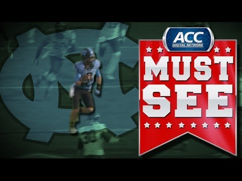 ACC Must See Moment  UNCs Ryan Switzer Bobbles Punt Then Returns For Touchdown  ACCDN  YouTube