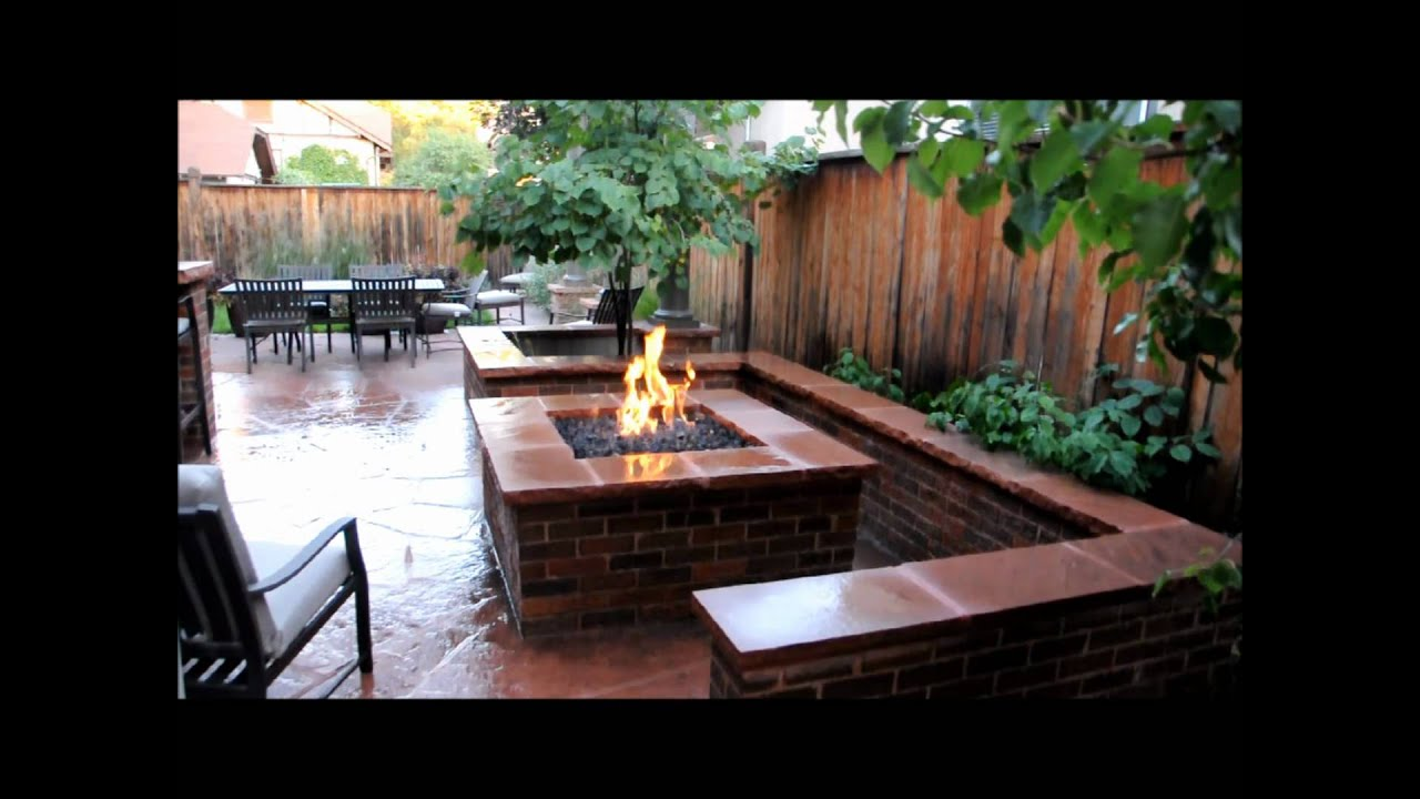 Brick Fire Pit And Seat Wall Youtube