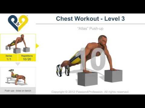 Senaman untuk dada (Chest Workout   Level 3)