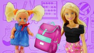 Штеффи прогуляла школу. Мама Барби в ШОКЕ! Видео для девочек про приключения Барби