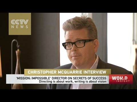 with Christopher Mcquarrie, director of Mission Impossible