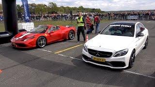 Mercedes AMG C63S vs Ferrari 458 Speciale Aperta