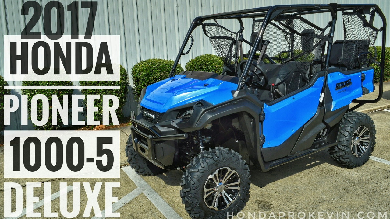 2017 Honda Pioneer 1000-5 Deluxe Review of Specs & Walk-Around / Startup Video | Blue SXS10M5D ...