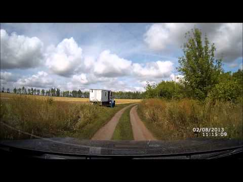 Дорога по деревне Замарайка Воловского района Липецкой области.
