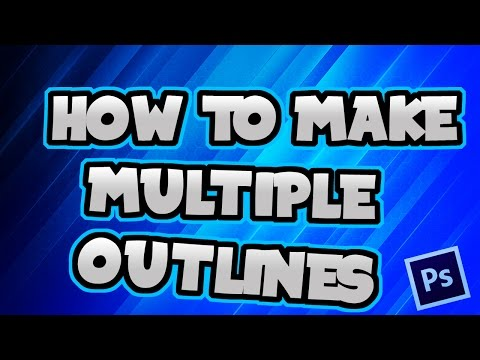 how to outline letters in photoshop how to make text outlines in photoshop cc 22336