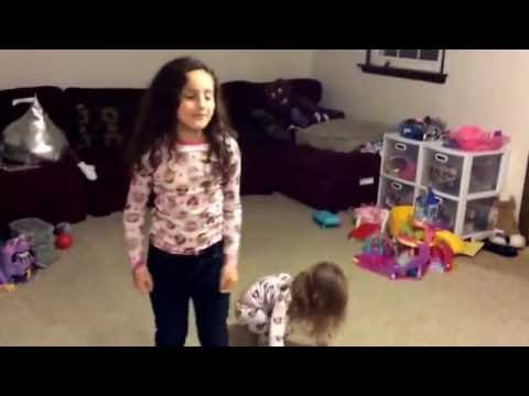 Riley & Reagan dance to Trolls can't stop the feeling!
