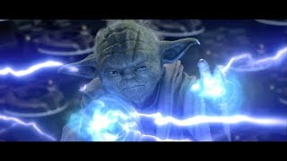 Магистр Йода против Дарта Сидиуса. Оби-Ван сражается с Энакином. HD