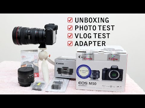 Repeat Canon M50 Mirrorless | UNBOXING | PHOTO TEST | VLOG