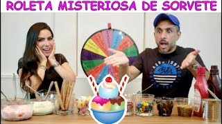 ROLETA MISTERIOSA DE SORVETE ♥ Mistery wheel of ice cream sundae challenge