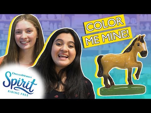 Painting Spirit And Lucky's Boots At Color Me Mine! | THAT'S THE SPIRIT