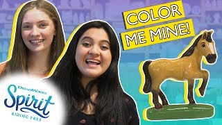 It's a dream come true! Halle and Rosa paint their own ceramic Spir...