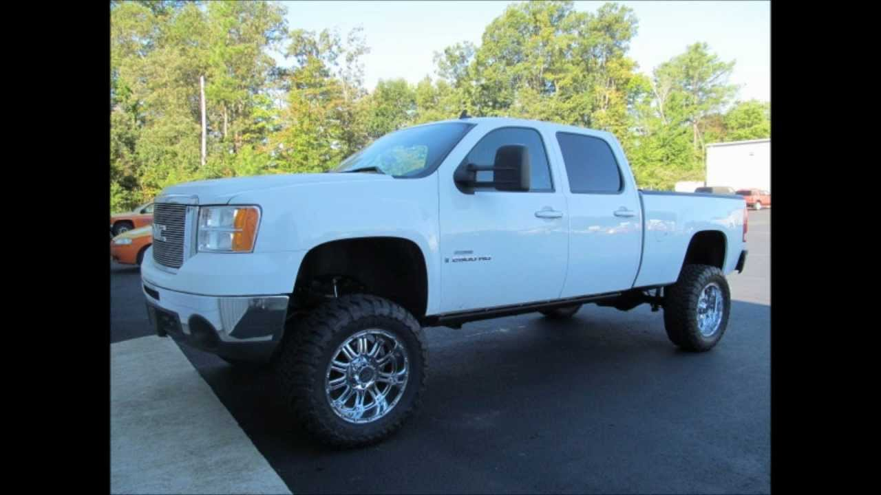 2008 gmc sierra 2500 diesel lifted truck for sale youtube. Black Bedroom Furniture Sets. Home Design Ideas