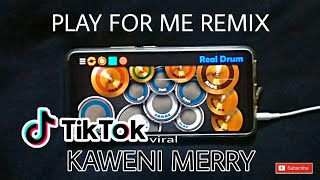 DJ SYMPHONY - PLAY FOR ME | KAWENI MERRY (REAL DRUM COVER)