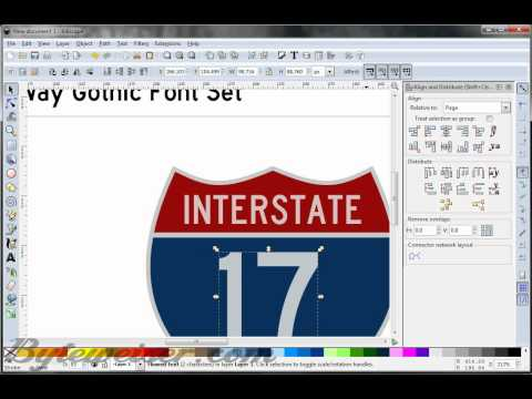 Byteweiser Inkscape Tutorial #4: US Interstate Road Sign