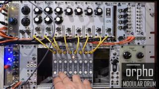 ORPHO MODULAR DRUM MACHINE I FLASH TRIGGER I 8 x16 Analog Step Sequencer for EURORACK MODULAR