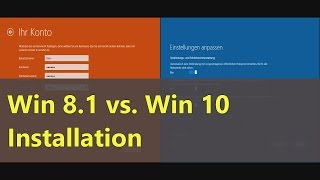 Windows 8.1 vs. Windows 10 - Installation