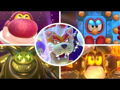 Super Mario 3D World - All Bosses (3 Player)