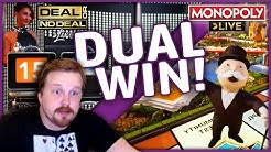 Deal or No Deal win AND Monopoly Live 4 rolls at the same time! 😱