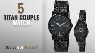 Top 10 Titan Couple Watch [2018]: Sonata Analog Black Dial Unisex Watch-sonata-11418100NM01