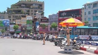 Các chiến sĩ cảnh sát giao thông Hà Nội những ngày nắng nóng cao độ