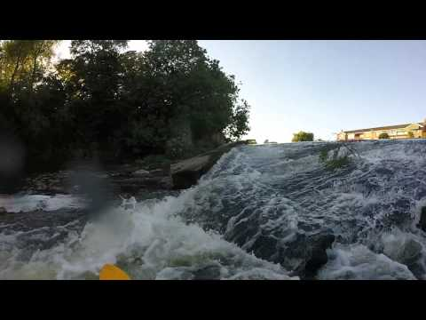Kayaking the river exe weirs