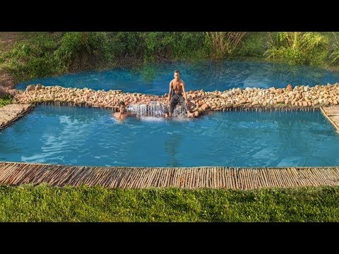 Building The Most Beautiful Natural Waterfall and Swimming Pool