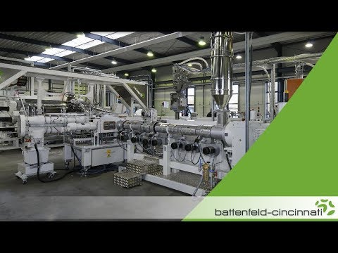 3-layer PET thermoforming sheet extrusion line