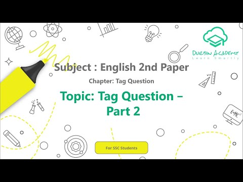 19  English 2nd Paper SSC   Tag Question   Tag Question   Part 2