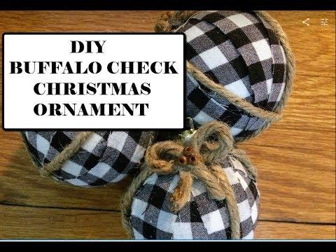 DIY BUFFALO CHECK CHRISTMAS ORNAMENT