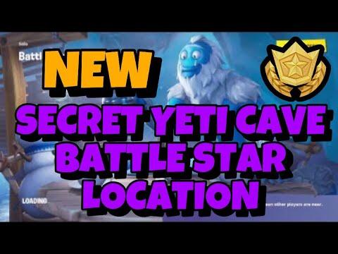 Hidden Battle Star In Secret Yeti Cave Fortnite Season 7 Week 5 Challenges