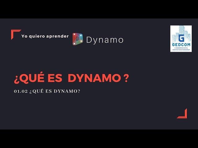 Introducción a Dynamo | 01-02-¿Qué es Dynamo?