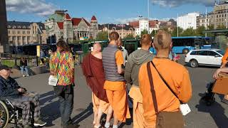 In the morning we made Harinama in Tikkurila, and in the afternoon in Helsinki 01.09.2020
