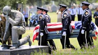 Officer Down - NOPD Officer Vernell Brown Final Salute, Dispatch & Young Son Honoring